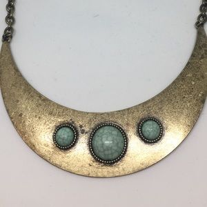 Jewelry - Tribal gold and turquoise green necklace!!!